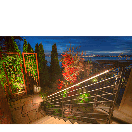 Landscape accent lighting highlight architecture trees plantings backyard accent lighting aloadofball Choice Image